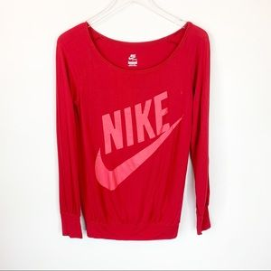 Nike Red Top Longsleeve size SP/CH